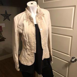 EUC Karen Kane button up denim jacket SM